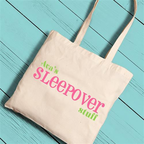 Girls Canvas Totes - Sleepover