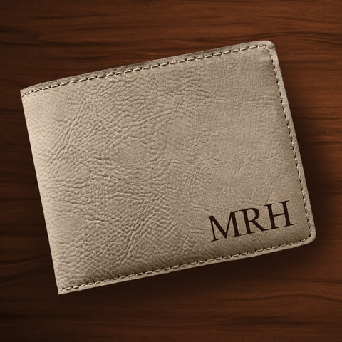 Personalized Tan Wallet - Monogrammed Wallet