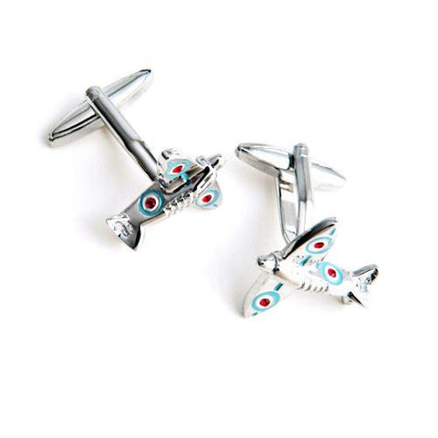 Dashing Cuff Links with Personalized Case  - SPITFIRE