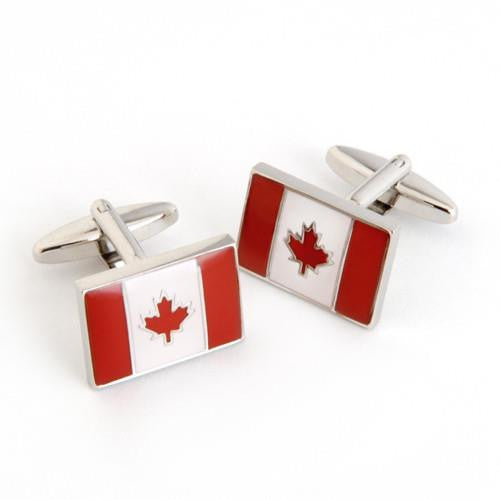 Dashing Cuff Links with Personalized Case  - CANADAFLAG