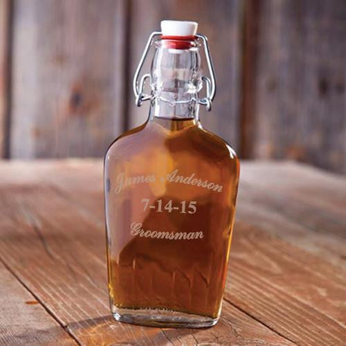 Groomsman Glass Flask
