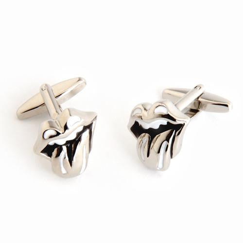 Dashing Cuff Links with Personalized Case  - LIPS