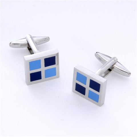 Dashing Cuff Links with Personalized Case  - BLUESQAURE