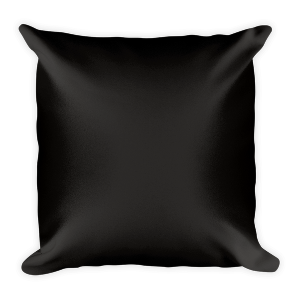 Limitless Throw Pillow (black with white logo)