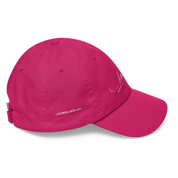 Limitless ::  Embroidered Baseball Hat (pink)