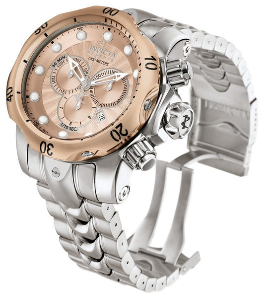 Invicta 10786 Venom Reserve Quartz Men's Watch Rose Gold Case Stainless Steel Band - Dealsie.com Love the Deals