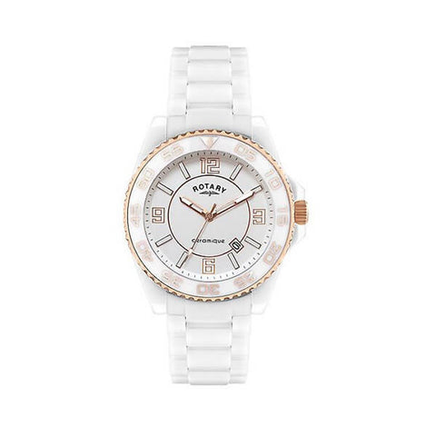 Rotary CEWBG/18 Women's Ceramic White Watch