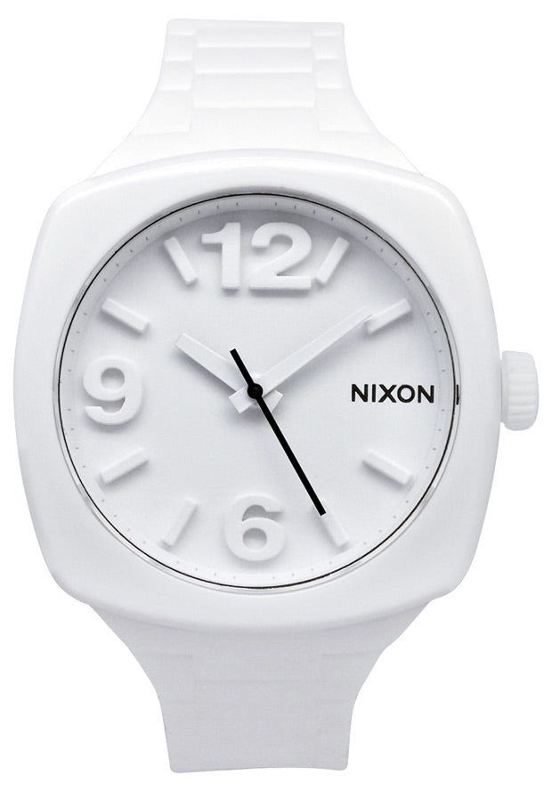 Nixon A265100 Men's or Women's Unisex White Silicone White Dial Watch