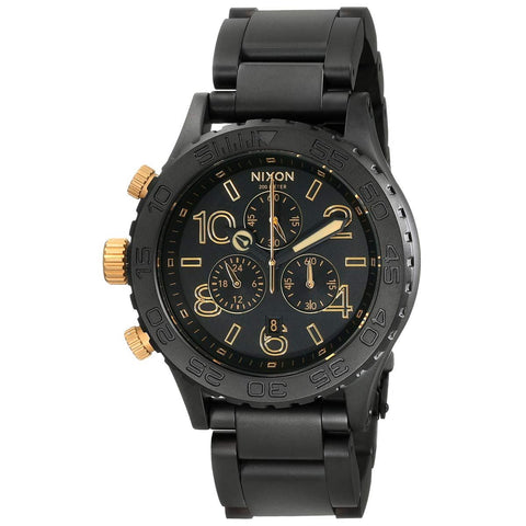 Nixon A0371041 42-20 Chrono Black Dial Chronograph Custom Solid Stainless Steel Men's Watch