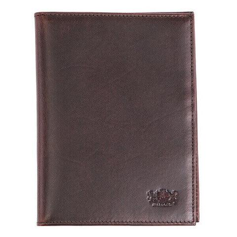 Avallone Antique Passport Holder - Brown Handmade Leather - AV001-DK