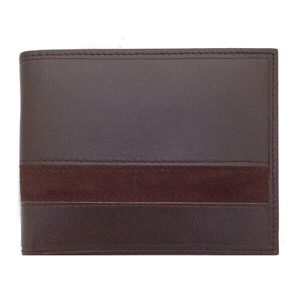 Avallone Executive Bi-Fold Wallet - Brown Handmade Leather - 1EBBFBR