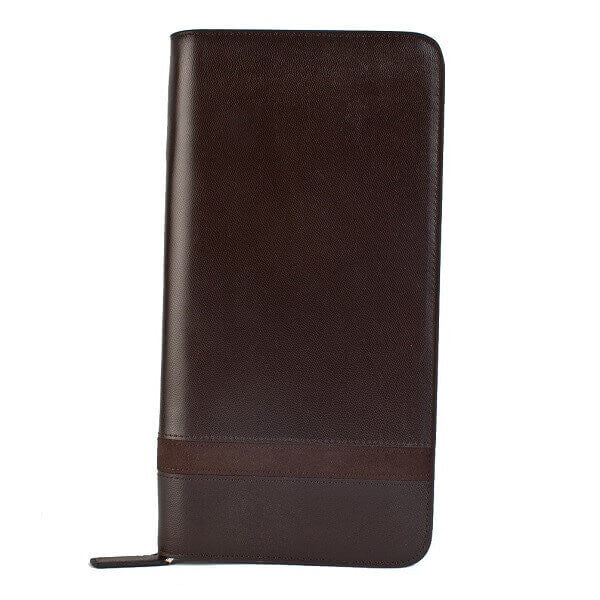 Avallone Executive Passport Holder - Brown Handmade Leather - 1IOPSBR