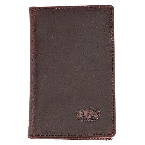 Avallone Men's Antique Front Pocket Wallet - Brown Handmade Leather - AV002