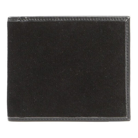 Avallone Men's Italian Classic Bi-Fold Wallet - Black Handmade Italian Napa Leather - 1ICBFBL