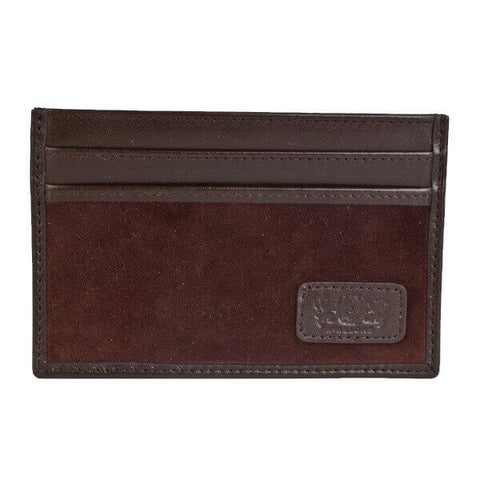 Avallone Slim Credit Card Carrier - Brown Handmade Leather - 1SCCEBR