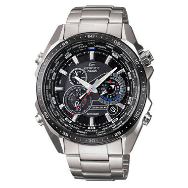 Casio EQS500DB-1WC Edifice Chronograph Black Dial Stainless Steel Men's Watch