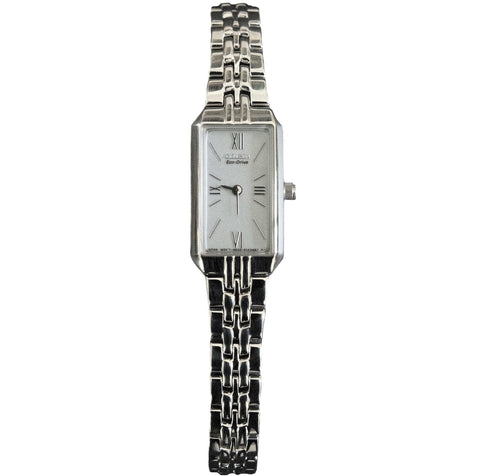 Citizen EG2690-50A Women's Slim Silver Tone Eco-Drive Watch