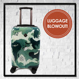 Hard Sided Carry On Spinner Luggage - Choose Your Cover Design
