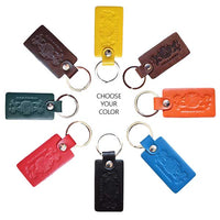 Keychain - Choose Your Color - Avallone Italian Napa Leather - Dealsie.com