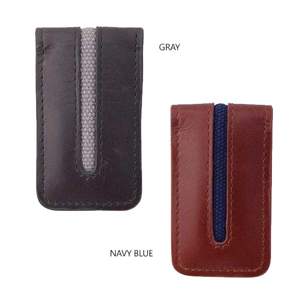 Magnetic Money Clip - Avallone Canvas & Leather - Dealsie.com