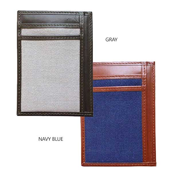 Money Clip Wallet With RFID Protection - Avallone Canvas & Leather - Dealsie.com