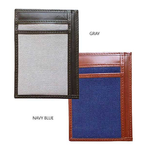 Money Clip Wallet With RFID Protection - Avallone Canvas & Leather