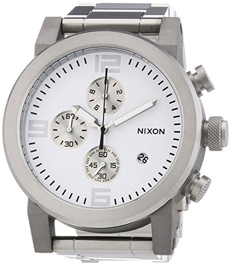 Nixon A347100 The Ride Chrono Silver Stainless Steel Men's Watch