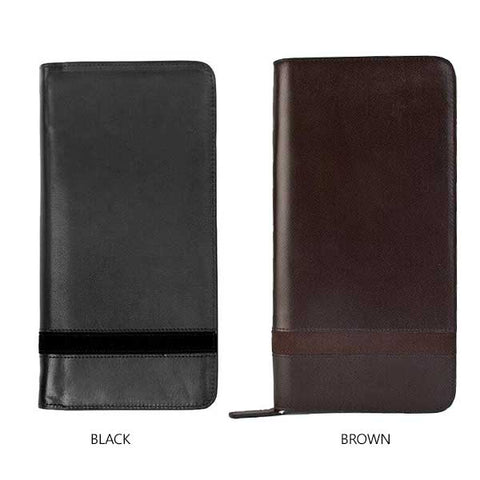 Large Zippered Wallet & Passport Holder - Avallone Luxury