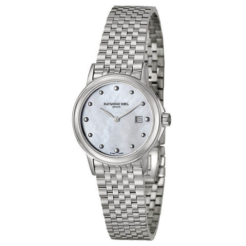 Raymond Weil 5966-ST-97001 Women's Tradition Stainless Steel Mother-Of-Pearl Dial Watch