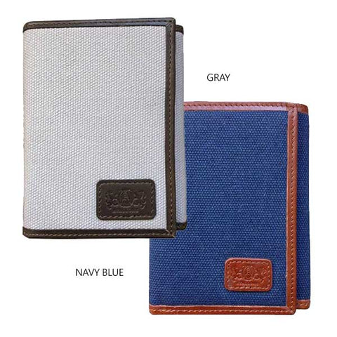 Tri-Fold Wallet With RFID Protection - Avallone Canvas & Leather