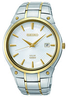 Seiko Men's SNE324 Dress Solar Analog Display Japanese Quartz Two Tone Watch - Dealsie.com Love the Deals