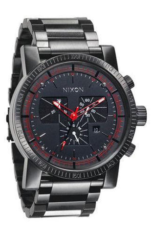 Nixon Magnacon A154001 Chronograph Black Dial Men's Watch