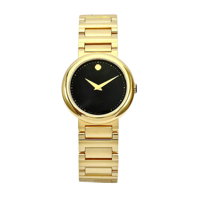 Movado 0606420 Women's Concerto Gold-Plated Stainless Steel Watch