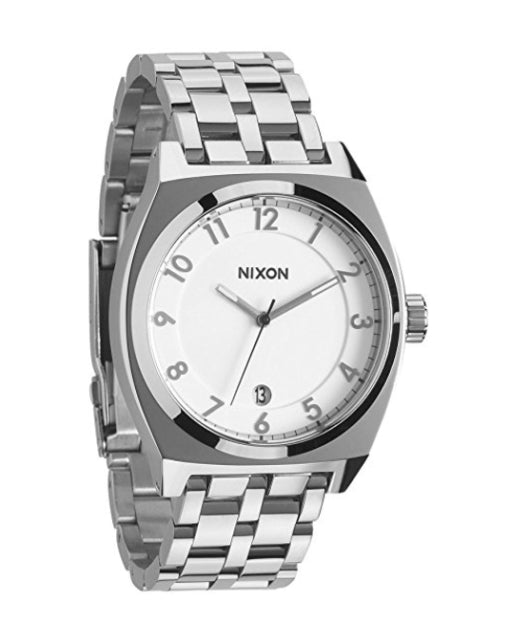 Nixon A325100 Men's Monopoly Silver Stainless-Steel Quartz Watch