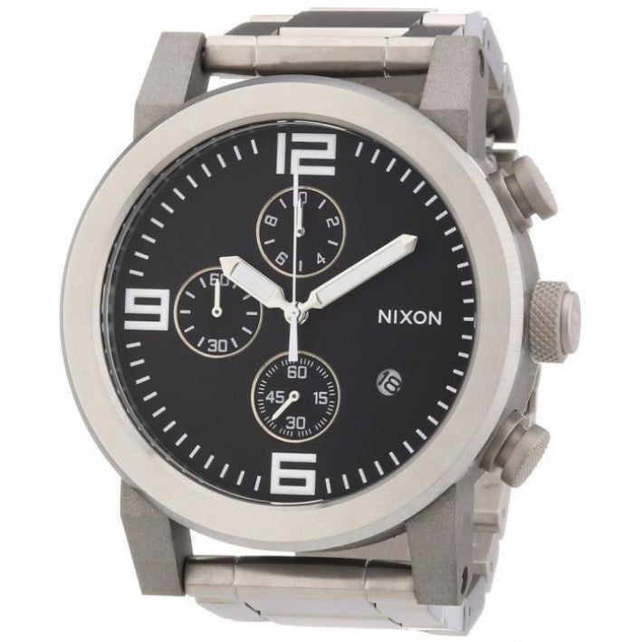 Nixon A347000 Men's RIDE Silver Stainless Steel Chronograph Watch