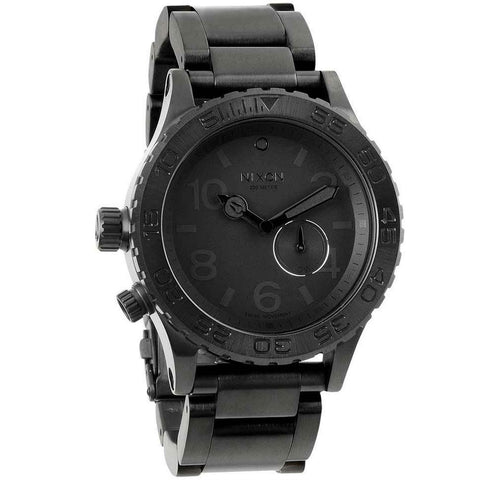 Nixon A035001 Men's 42-20 Tide Swiss Black Ion Plated Stainless Steel Black Dial Dive Watch