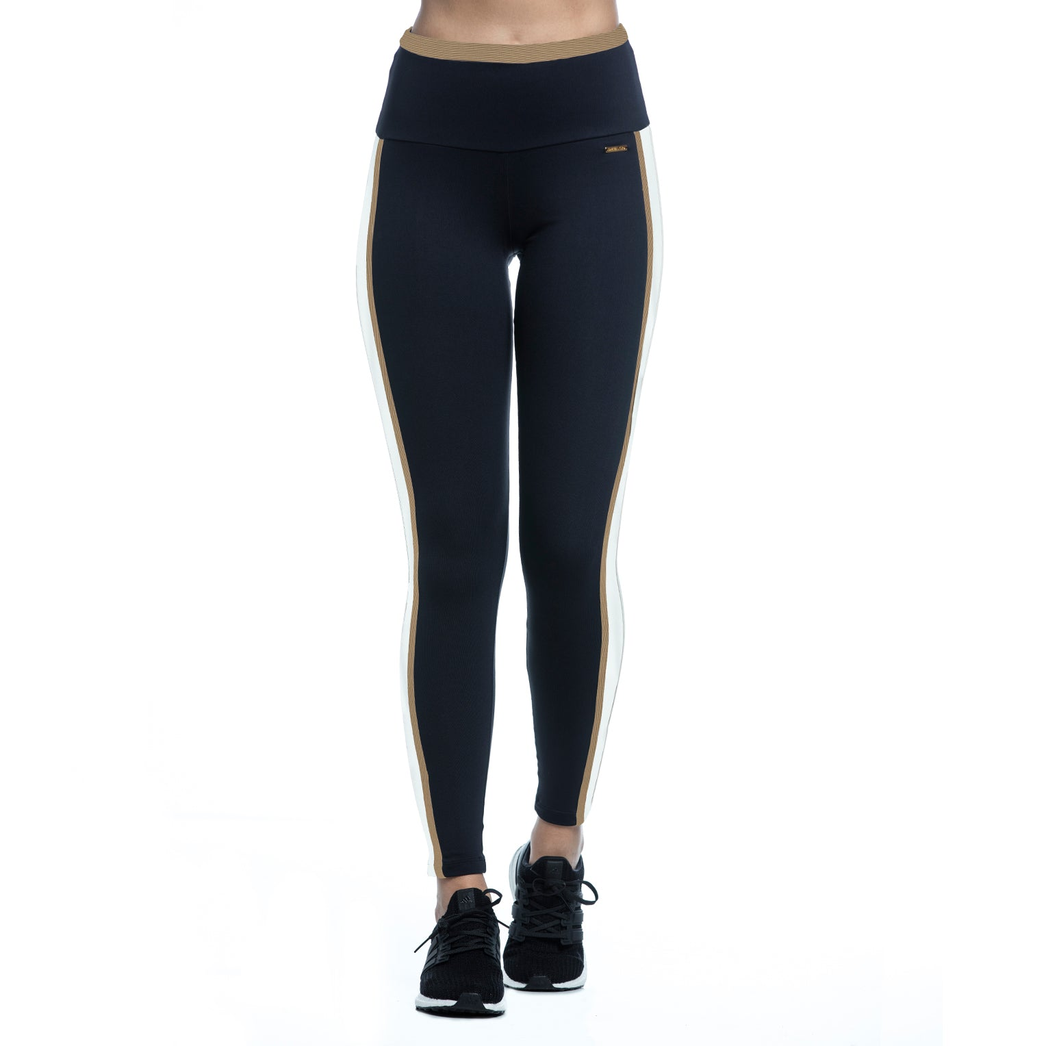 KATE LEGGINGS (BLACK/CARAMEL/OFF WHITE)