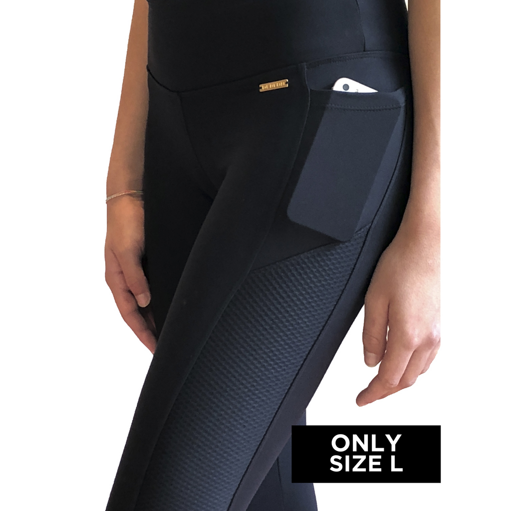 LYNN LEGGINGS (BLACK/ BEE)