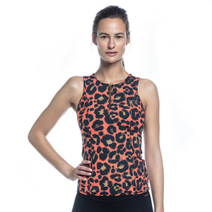 ROSY TOP NEW (CORAL/ LEOPARD)