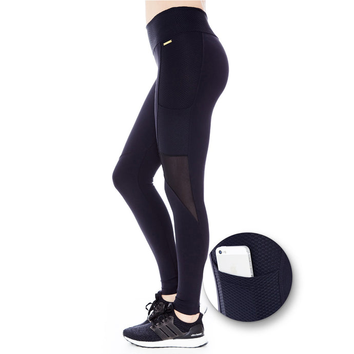 SIDE POCKET LEGGINGS (BLACK/ BEE)