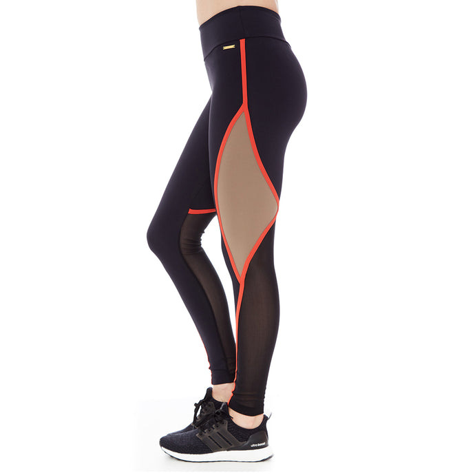 ZOE LEGGINGS (BLACK/ CARAMEL/ LOBSTER)