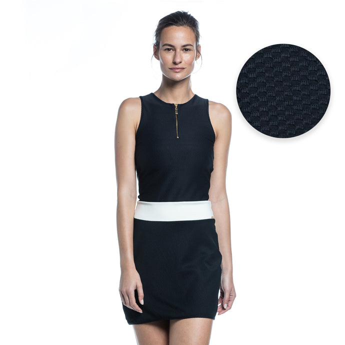 ROSY DRESS (BLACK/ OFFWHITE)