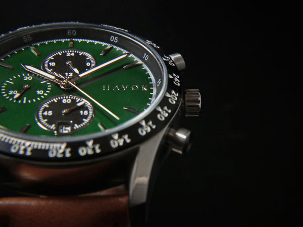 British Green Racer Chronograph