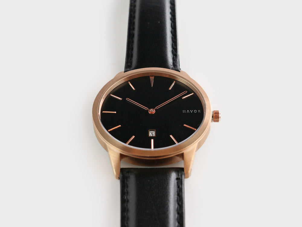 Rose Gold Havok Watch - 40 mm