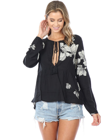 Hummingbird Floral Top
