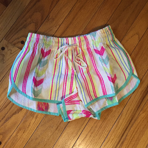 Judith March Neon Arrow Jacquard Track Short