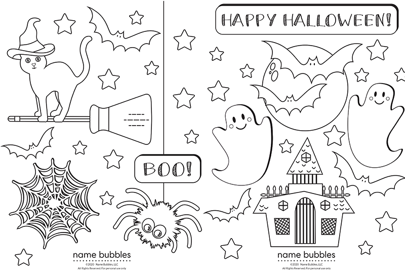 Two free spooky coloring pages blog