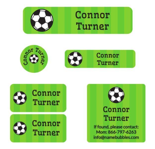 Name Bubbles camp labels pack.
