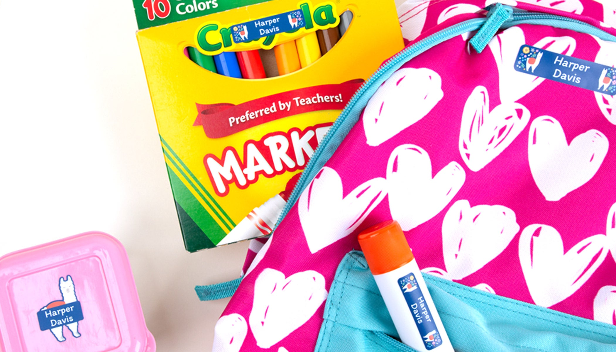 Name Bubbles believes you need to add custom kids labels to your back to school supply shopping list..