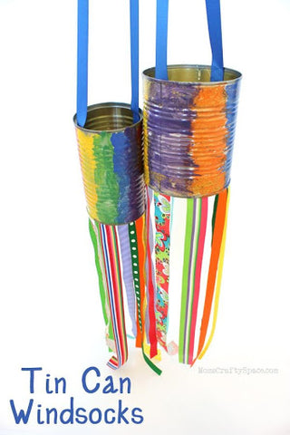 Tin Can Windsocks – Happiness Is Homemade